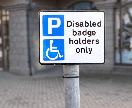 Disabled Parking Bay Sign